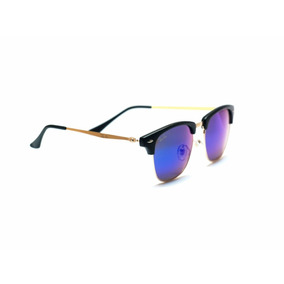0e4978e629 Gafas De Sol Rayban Clubmaster Lente Espejo Uv400 + Estuche. 4 colores