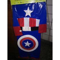 Hermoso Disfraz Capitan America Nuevos!! Excelente Calidad