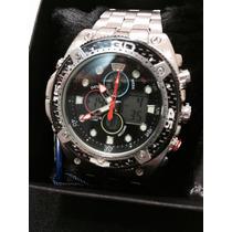Relógio Masculino Atlantis G3088 Prata/preto Analóg/digital