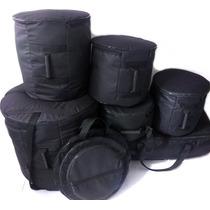 Capa Bag Para Bateria 8 Peças 1 Porta Baqueta De Brinde