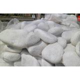 Piedra Blanca Marmol Tamboreado Jardín Decoración Stock