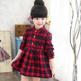 Vestido Inverno Xadrez Soft Menina Criança
