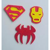 Aplique Eva Aranha, Homem De Ferro E Supermam