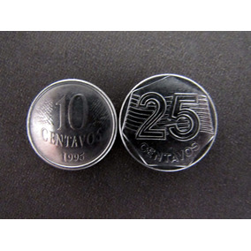 Moeda Comemorativa Casal Fao 10 E 25 Centavos 1995 Mbc