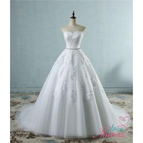 Vestido Noiva Tomara Que Caia Jaqueline Com Cauda