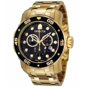 Relógio Invicta Luxo Prodiver 0072 Preto Gold Original Cj194