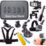Suportes P/ Gopro 3+ 4 Hero 5 Case Impermeável Flash Cinta