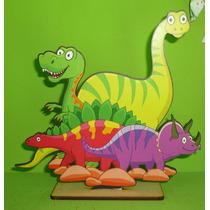 10 Centros De Mesa + 3 Figuras Gigantes Dinosaurios