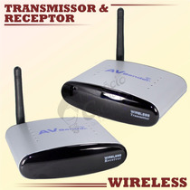 Transmissor E Receptor De Áudio Vídeo Av Sender Wireless