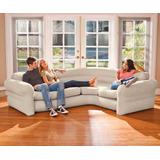 Sofa Inflable Esquinero Increible De Lujo 257 X 203 X 76 Cms