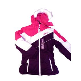 Campera De Abrigo Ski Impermeable Polar Niña Niño 4 En 1