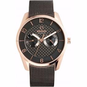 Reloj Obaku Negro Caballero V171gmvbm Fibra De Carbono Orig.