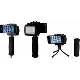 Grip Extension Y Lampara P/ Iphone Interfit Int149 Nuevo