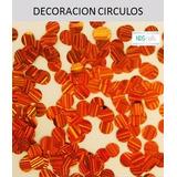 Un Paquete De Decoraciones Circulos Modelo 20 Naranja Metali