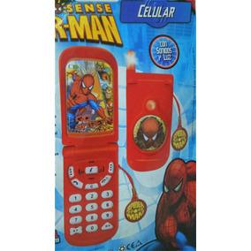 Celular Spiderman Con Luz Y Sonido, Oferta!