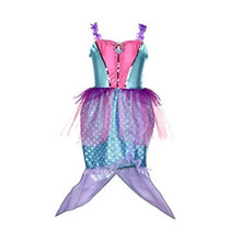 Disfraz Para Niña Disney Princess Vestido De Sirena Ariel