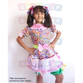 Vestido De Quadrilha Roupa Junina Para Criança