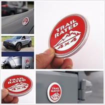 Emblema Jeep Trail Rated Autoadherible Rubicon Wrangler Jk