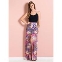Vestido Longo Estampado Floral Tropical - Barato