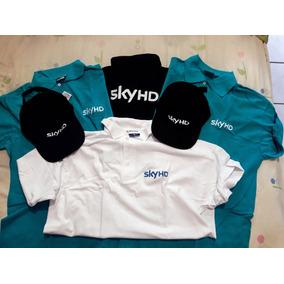 Paquete De 4 Camisas Tipo Polo Uniforme Sky Incluye 2 Gorras