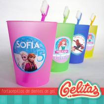 10 Vasos Calcos + Cepillos. Peppa Pig. Frozen. Hombre Araña