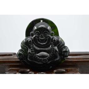 Collar Buda Jade Natural Color Mayormente Negro