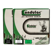 Kit 3 Cajas 100mts Cable Verde,negro,blanco Cal12 Condulac