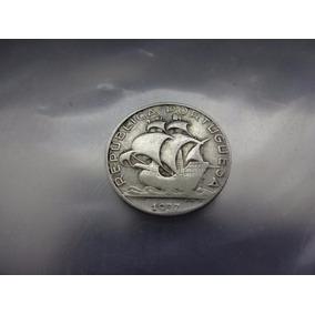 Moeda Portugal 2,50 Escudos 1937 Prata Rara