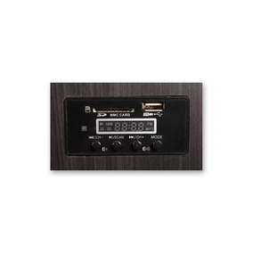Parlante 2.0 90w + 2 Mic Inalambricos Karaoke Usb + Sd Track