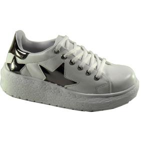 Zapatillas Sneakers Mujer Plataforma Media Urbana Cordon 475