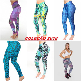 Kit 10 Calças Legging Suplex Roupas Moda Fitness Atacado