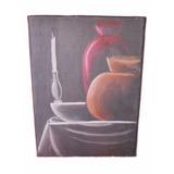 Cuadro Al Oleo Pintado A Mano Vasijas