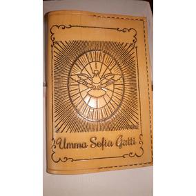 Cubierta Tapa Cuero Libro Biblia Grabado Tapa Y Contratapa