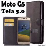 Capa Case Flip Cover Carteira Moto G5 G 5 Xt1672 Tela 5.0