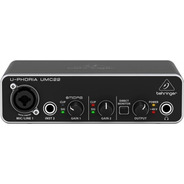 Behringer Umc22 Interface Usb 2x2 Placa De Sonido Audio Umc