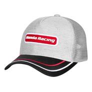 Boné Trucker Moto Honda - Patch - Cinza/preto - Coleção Racing