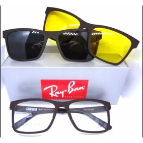 Armação Óculos Rb2088 2 Clip On Clipons Masculino E Feminino 2a2d7eae7b