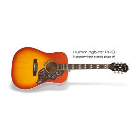 Violão Epiphone Hummingbird Pro Faded Cherry C/ Bag Brinde
