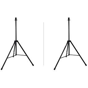 Par Suporte Pedestal Caixa Som Torre Tripé Estágio Único