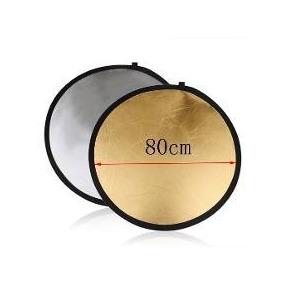 Rebatedor Difusor Fotográfico Circular 80cm Dobrável 5 Em 1