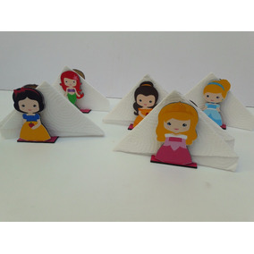 Servilleteros Princesas Bebe - Fibrofacil - Candy Bar