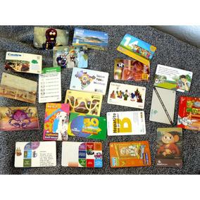 Lote Conjunto Com 22 Diversos Cartão Telefônico