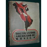 Libro Boletin Latinoamericano Musica 1941 Tomo 5 Curt Lange
