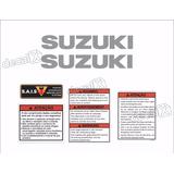 Kit Jogo Etiqueta Adesivo Tanque Suzuki Bandit Antiga Bdt001
