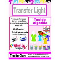 Papel Transfer Light Algodão Tecido Claro Jato De Tinta