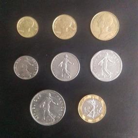 Coleccion De 8 Monedas De Francia Antes Del Euro