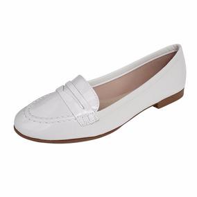 Sapato Branco Enfermagem Mocassim Fechado Feminino Confort