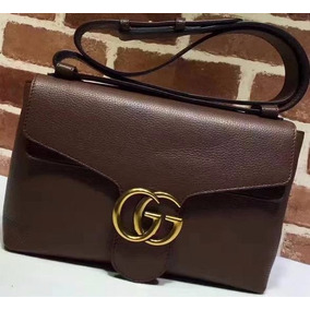 Bolsa Gucci Original Gg Marmont Leather Shoulder Bag