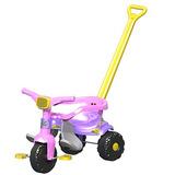 Triciclo Velotrol Bebe 1 Ano Azul/rosa Empurrador 2560/2561