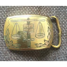 Antiguidade - Fivela Dos Anos 1950s Chapeada A Ouro